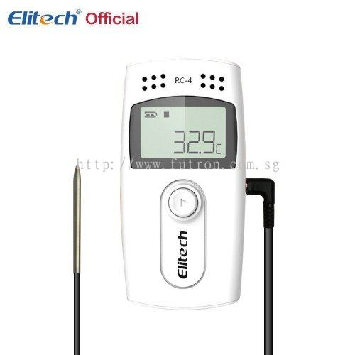 Futron Electronics Pte Ltd:ELITECH RC-4 TEMPERATURE DATA-LOGGER WITH EXTERNAL SENSOR & ALARM