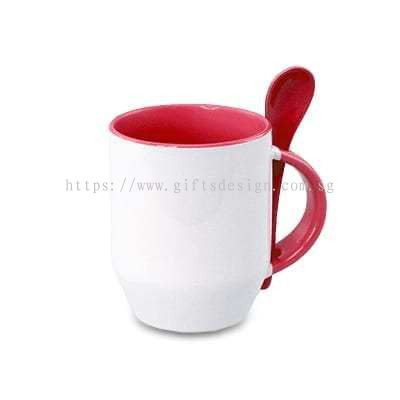 Gifts Design Pte Ltd:Zecore Sublimation Mug with Spoon