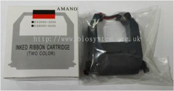Time Recorder Ink Cartridge Amano EX3000-5100-black-red