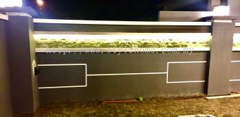 fencing design in the night.��