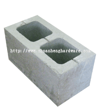 block 190 mm deep double hole