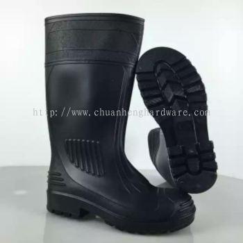 pvc boot black