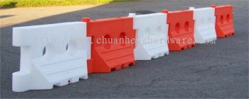 safety road barrier Red