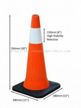 Road safety cone 30 ""