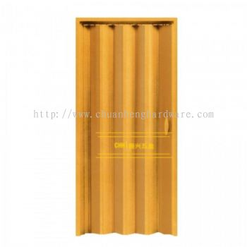 PVC folding door brown