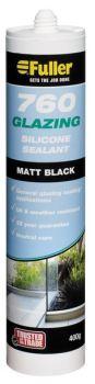 Fuller 760 Glazing Silicone Matt Black 400g