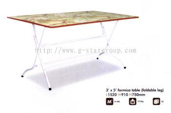 FORMICA TABLE 3X5 (BOLEH LIPAT SET)