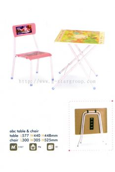 ABC TABLE WITH CHAIR SET