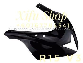 FRONT COVER CONVERT (R6) R15 V3 BLACK (ABS  MATERIAL)EMS-YGJJ(.    )
