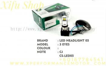 LED HEAD LIGHT BULB 05 3 EYES CS-LED05