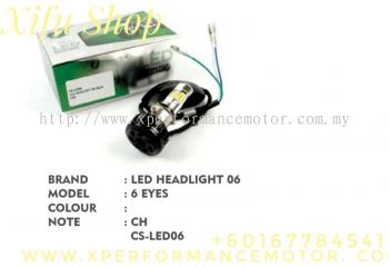 LED HEAD LIGHT BULB 06 6 EYES CS-LED06