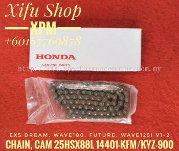 TIMING CHAIN/CHAIN, CAM 25HSX88L HONDA 100% ORIGINAL EX5 DREAM / W100 / FUTURE / WAVE 125 FI V1-V2 14401-KYZ-900/14401-KFM-900 LEE02011490 CEE