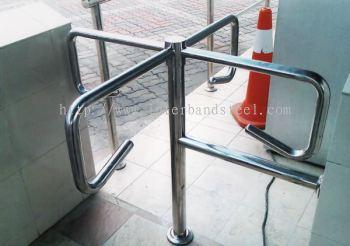 stainless steel turnstile