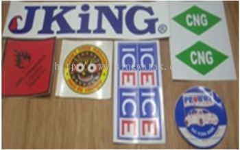 White and Transparent sticker printing