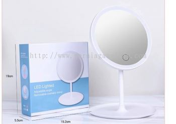 LED touchscreen mirror with USB port