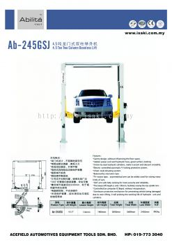 AB - 245GSJ 4.5 Ton Column Baseless Lift