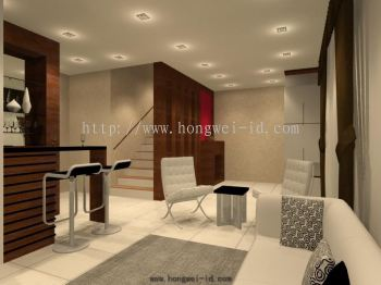 Johor living and dining interior design residential for Living hall interior