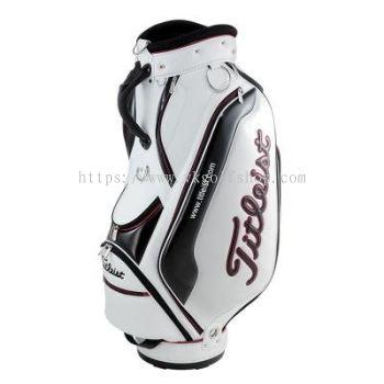 Sporty Enamel Cart Bag TB5CT591-1 White