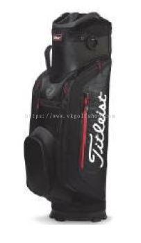 Titleist Club 7 Cart Bag TB8CT5-006 Black Black/Red