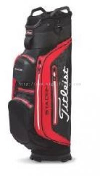 Titleist StaDry Deluxe Cart Bag TB8CT7-016 Black White/Red