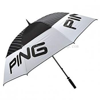 "Ping 68"" Tour Umbrella - White/Black/Grey"