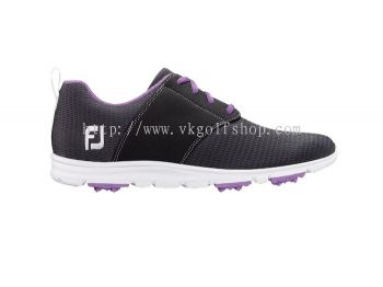 enJoy™ Style 2 #95711 Charcoal with Grape Trim Womens Golf Shoes