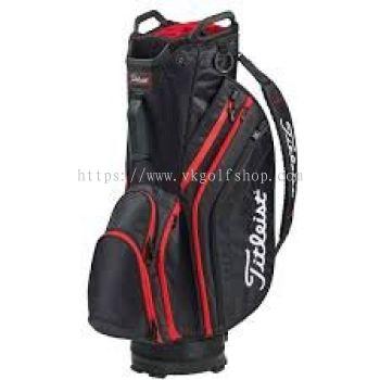 Titleist Lightweight Cart Bag Black/Black/Red Model TB9CT6E-006