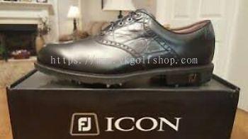 FJ ICON BLACK WHT/CHSTNT LIZD  Golf Shoes