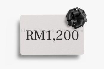 Digital Gift Card RM1,200 MYR (Duties and taxes included)
