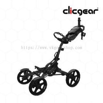 CLICGEAR Golf Cart 4 Wheel - MODEL 8.0+ Black