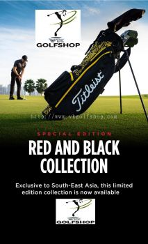 TITLEIST 4UP PERANAKAN LIMITED EDITION Black STAND BAG