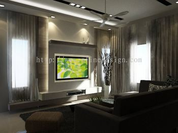 johor tv feature wall design living room design from p