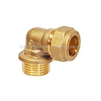 "Kembla Copper Fittings Elbow CxMI 15mm x 1/2"""