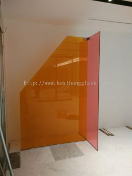 color lamineted glass