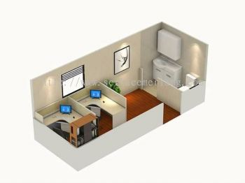 Prefab cabin house layout