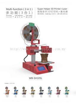 Super Helper (S) 3D Printer + Laser Engraving