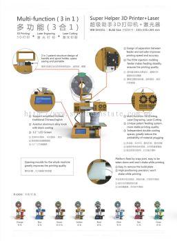 Super Helper (L) 3D Printer + Laser Engraving