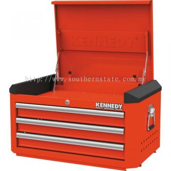 """Red-28"""" 3 Drawer Top Chests"""