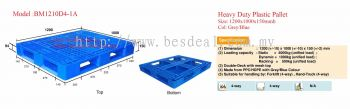 Heavy Duty Plastic Pallet Size 1200*1000*150mmH