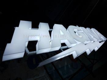 Hagna White Acrylic LED 3D Signage