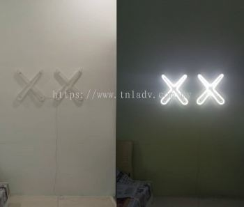 Double X LED Neon Light (Cold White)