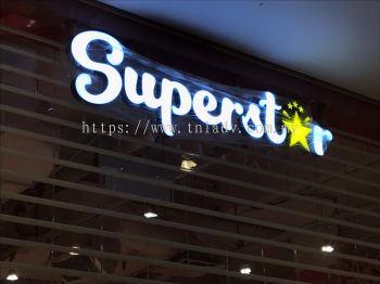 Superstar 3D LED box up Front lit
