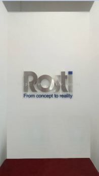 Rosti logo stainless steel box up hairline with spray paint