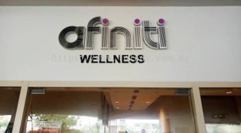 Afiniti Wellness Stainless Steel with 10mm black acrylic
