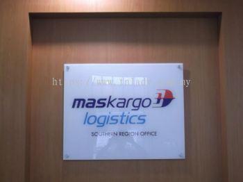 Maskargo 5mm clear acrylic reversed sticker