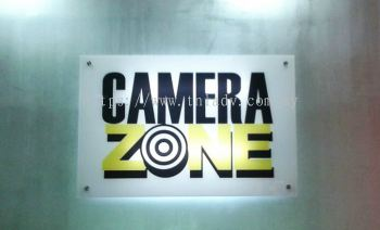 camera zone 5mm 3ft x 2ft clear acrylic reversed sticker with T5