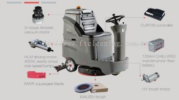 GM AC Ride On Scrubber Machine