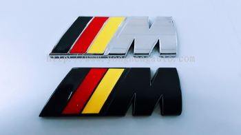 BMW M Sport/Tech Rear Boot Badge Emblem [Black/Chrome][Black/Red/Yellow]