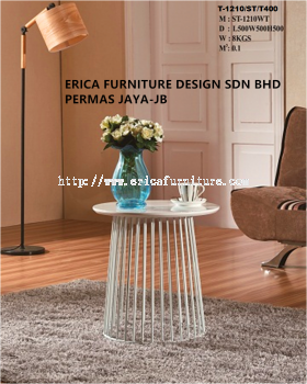 Side Table White-1210W(YG)