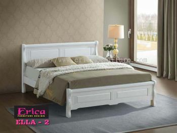 SOLID RUBBER WOOD WOODEN BED (KING)